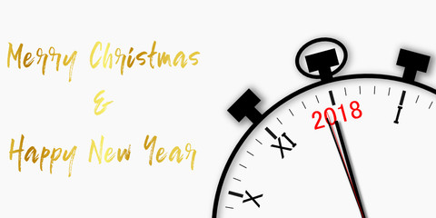Merry Christmas and happy New Year 2018 countdown - crhonometer