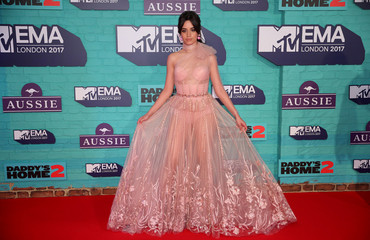 Singer Camila Cabello arrives at the 2017 MTV Europe Music Awards at Wembley Arena in London.