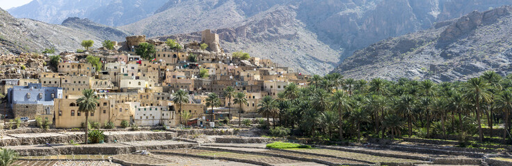 village of Bald Sayt in the mountains of Oman