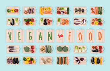 Vegan food and vegetables
