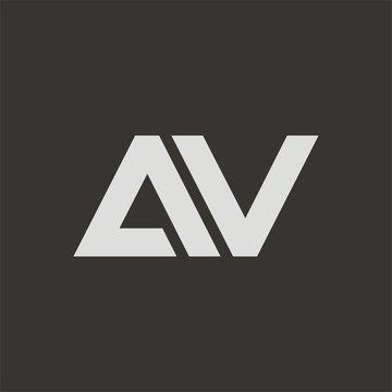 AV logo initial letter design template vector