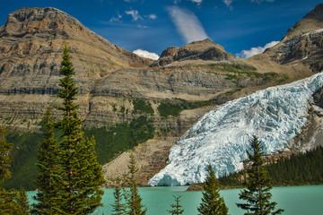 Berg glacier falling into Berg Lake, British Colombia, Canada