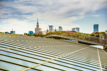 Warsaw skyline. View from the roof