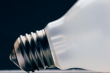 Lightbulb on black