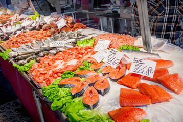 Seafood at a market