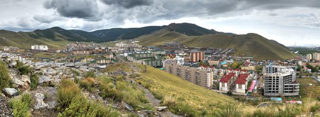 Stadtansicht von Ulan Bator, die Hauptstadt der Mongolei