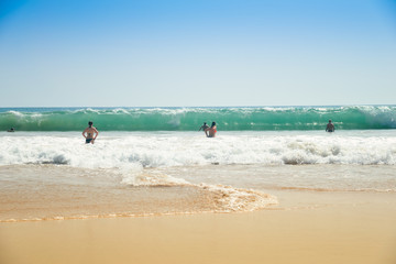 Beautiful wave in the ocean