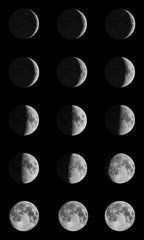 Phases of the Moon through one month