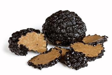 Black Truffle Mushrooms Isolated