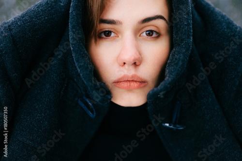 unusual female portrait unique person closeup expressive face