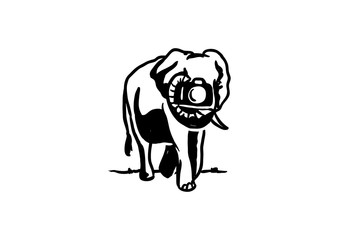 Walking Elephant Taking Picture