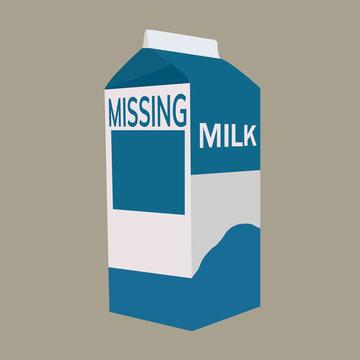 Milk carton with space
