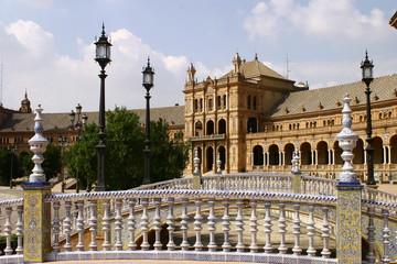 Plaza de España  en Sevilla  en el Parque de María Luisa proyectado por el arquitecto Aníbal González