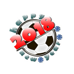 Soccer balls and New Year 2018