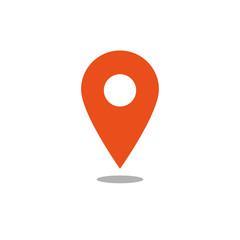 Location icon orange vector