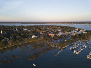 Aerial view of Beaufort, South Carolina