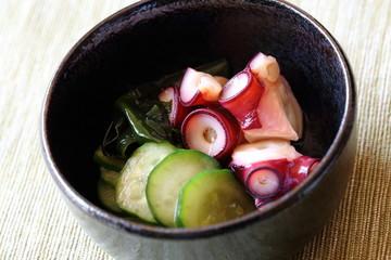 蛸とキュウリの酢の物 Vinegared octopus and cucumber
