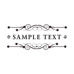 luxury vintage floral logo
