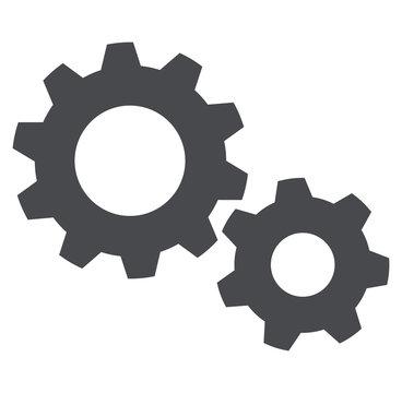 settings icon on white background
