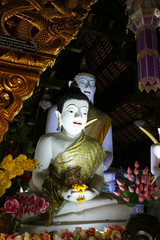 statue of buddha, in buddhist temple