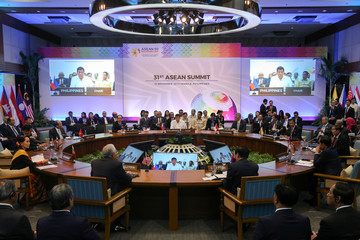 Asean leaders attend the opening session of the 31st ASEAN Summit in Manila