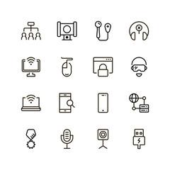 Online game icon set.