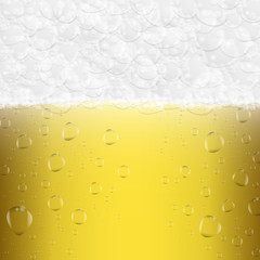 Abstract background. Glass of light beer. Vector image.
