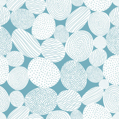 Vector seamless pattern with decorative stones.