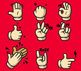 Comic Cartoon Hand Gesture