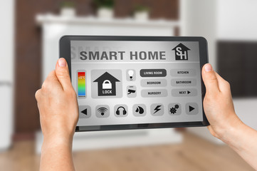 Tablet with remote smart home control system