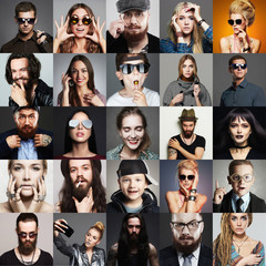 Hipster people fashion beauty Collage