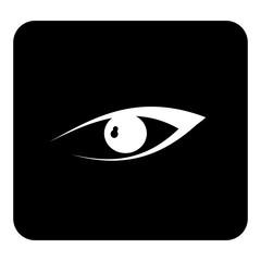 Vector Eye. Vector white illustration on black background