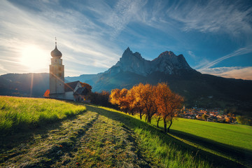 St. Valentin church, Castelrotto Kastelruth, Alto Adige or South Tyrol, Italy