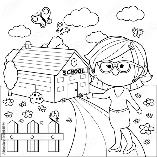 international school design coloring pages - photo#39