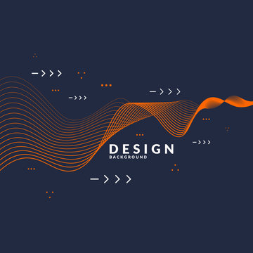 Vector abstract background with dynamic waves.