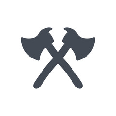 Firefight service silhouette icon axe