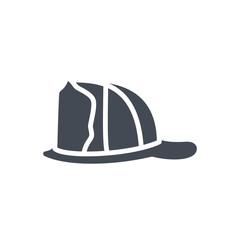 Firefight service silhouette icon helmet hat