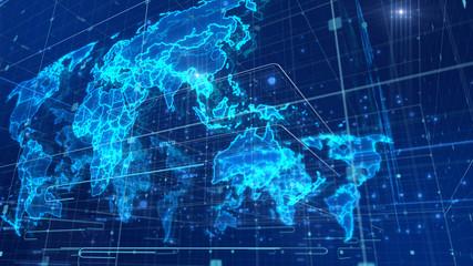 Cyberspace News World Map