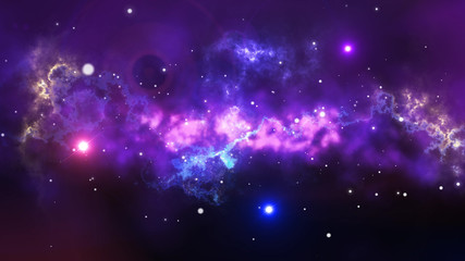 Splendid Star Space Illustration
