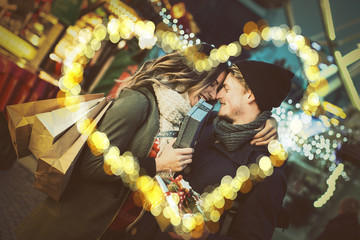 lovers christmas couple