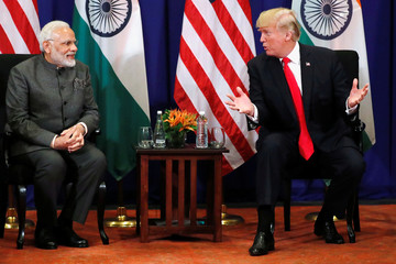 U.S. President Donald Trump holds a bilateral meeting with India's Prime Minister Narendra Modi alongside the ASEAN Summit in Manila
