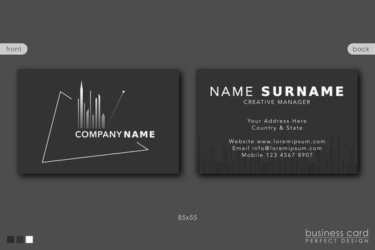 Business Card Template City Design