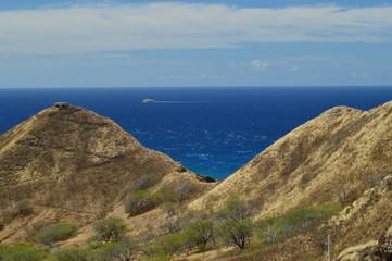 Mountains of Diamond Head. Oahu, Hawaii, USA, EEUU.