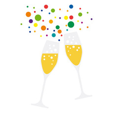 drink a toast to the party, vector background