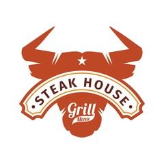 barbecue steak chicken logo design
