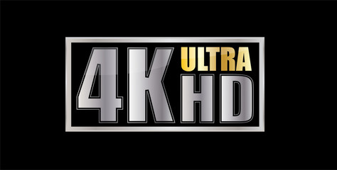 Ultra Hd 4k silver symbol