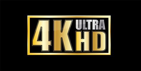 Ultra Hd 4k gold symbol