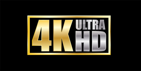 Ultra Hd 4k gold and silver sticker
