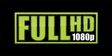 Full Hd 1080p green sticker