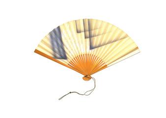 Folding fan on white